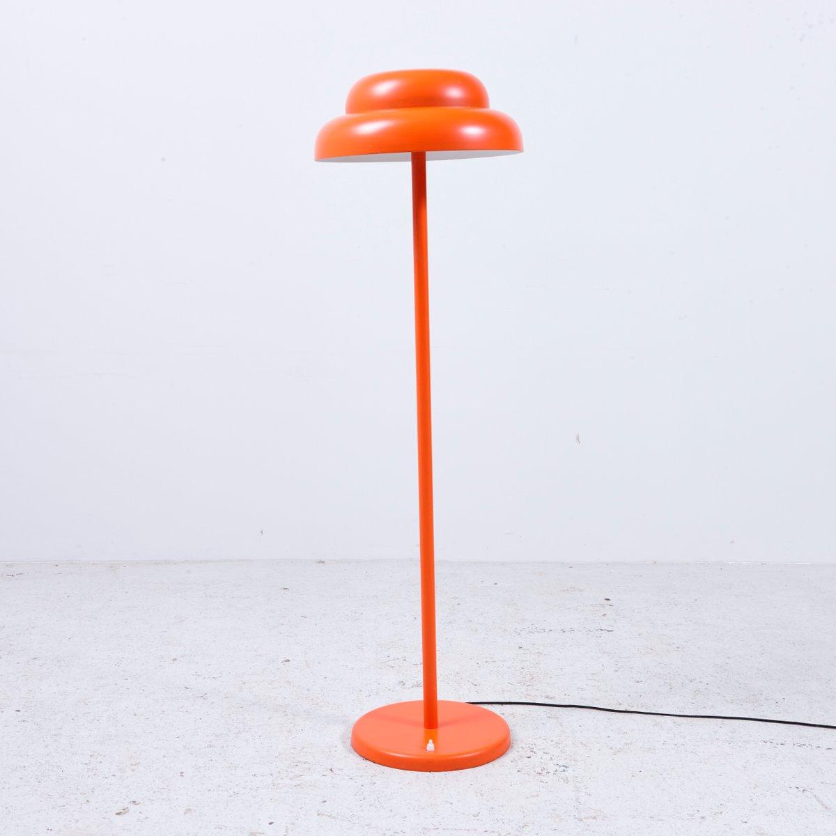 Felh? Stehlampe in Orange von János Bánáti für Opteam, 1970er