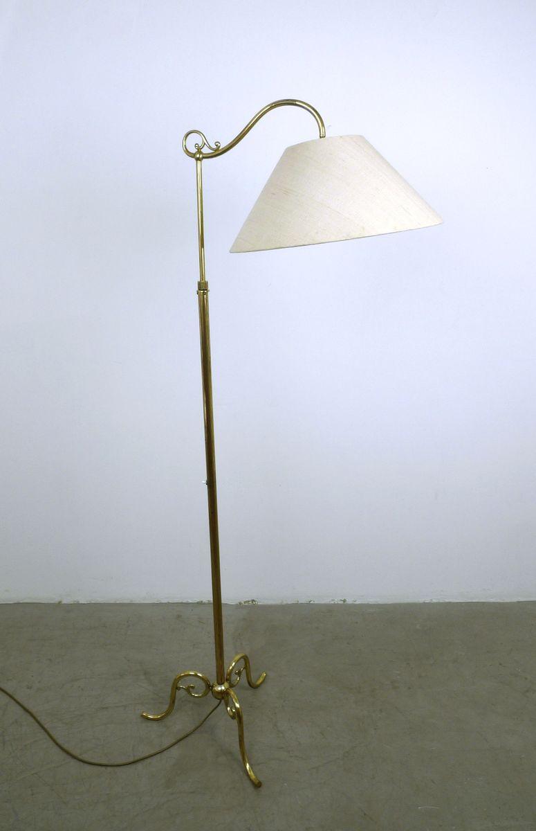 Stehlampe mit verziertem Messing Sockel, 1940er