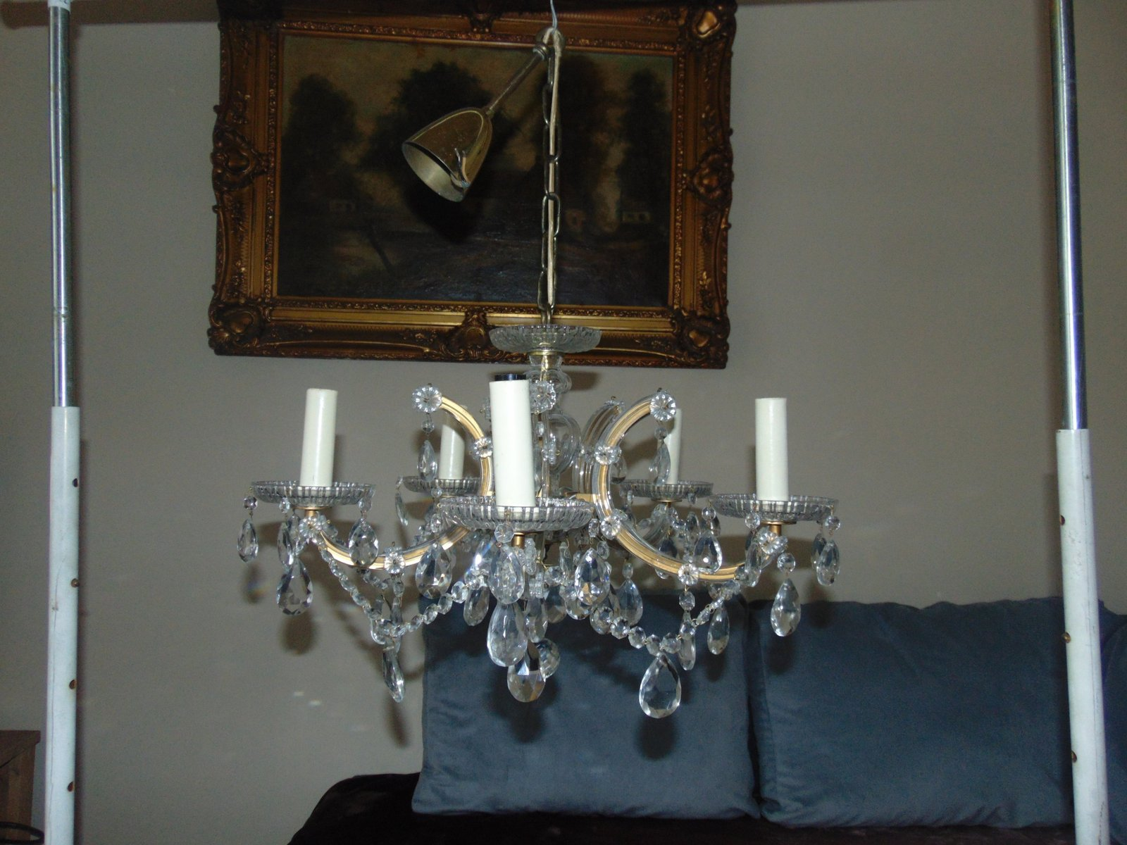 Art Deco Kristallglas Kronleuchter