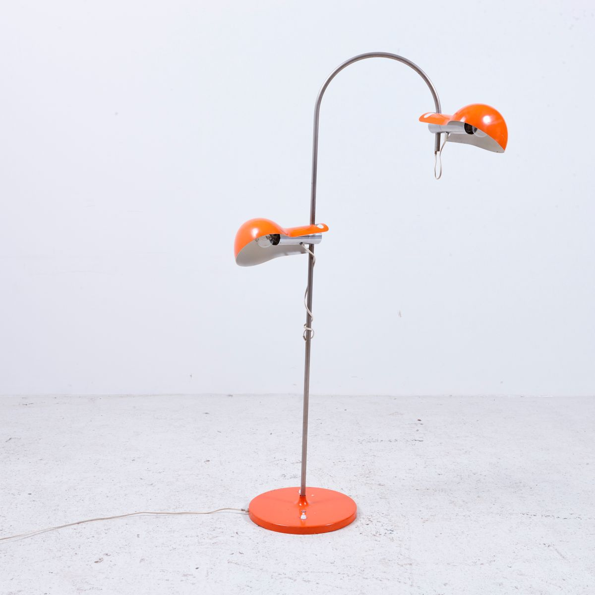 Vintage Stehlampe in Orange, 1970er
