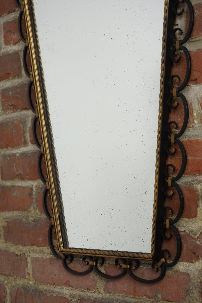 Mid Century Iron Patio Chairs: Mid-Century Wrought Iron Mirror, 1950s For Sale At Pamono