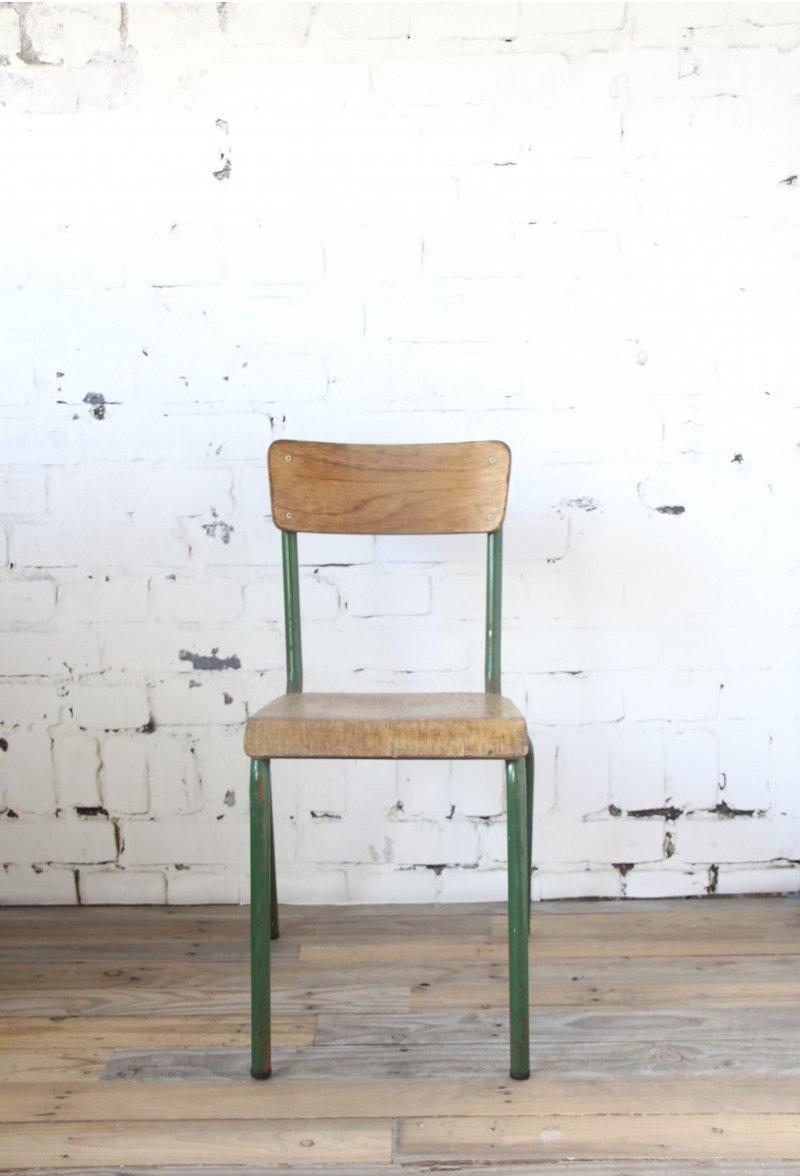 Chaise Vintage Industrielle Verte 10 4500 EUR