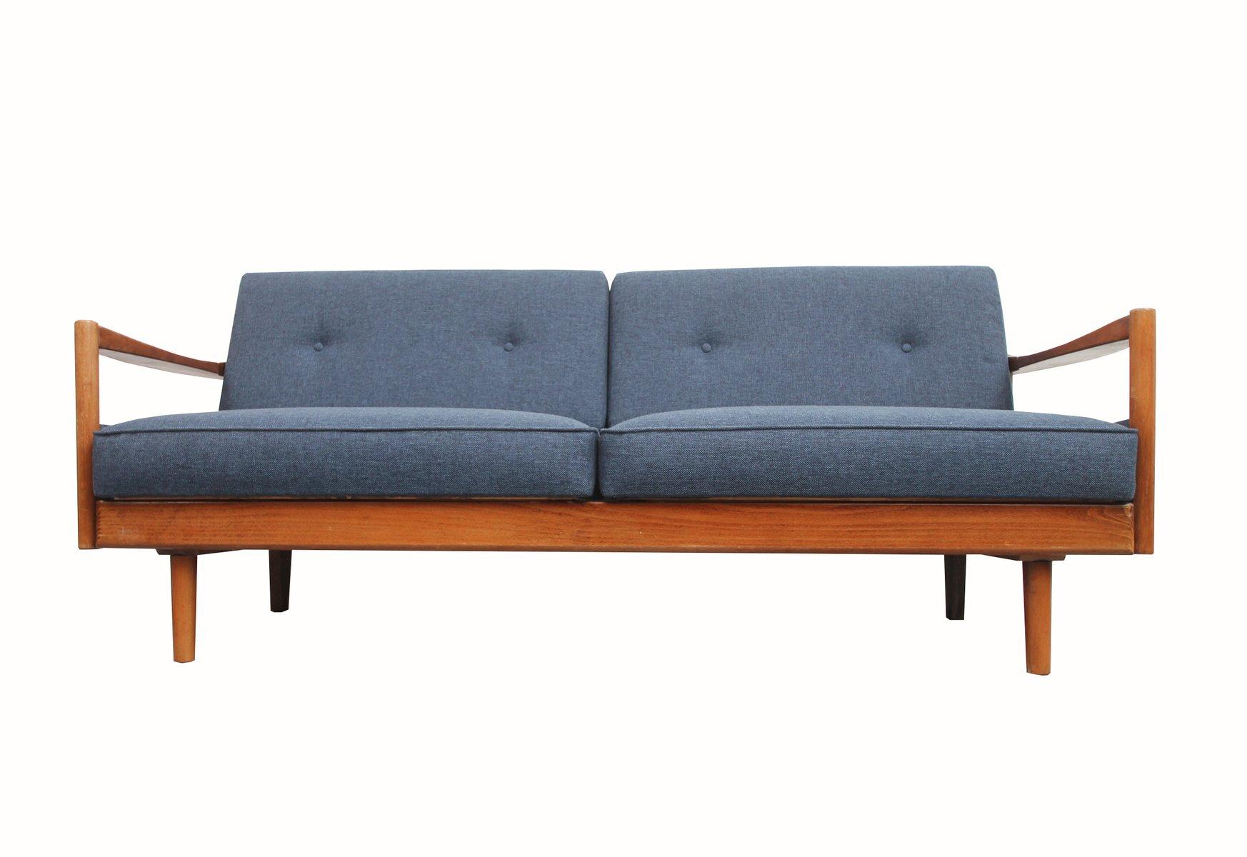 Deutsches 2-Sitzer Sofa in Blau, 1960er