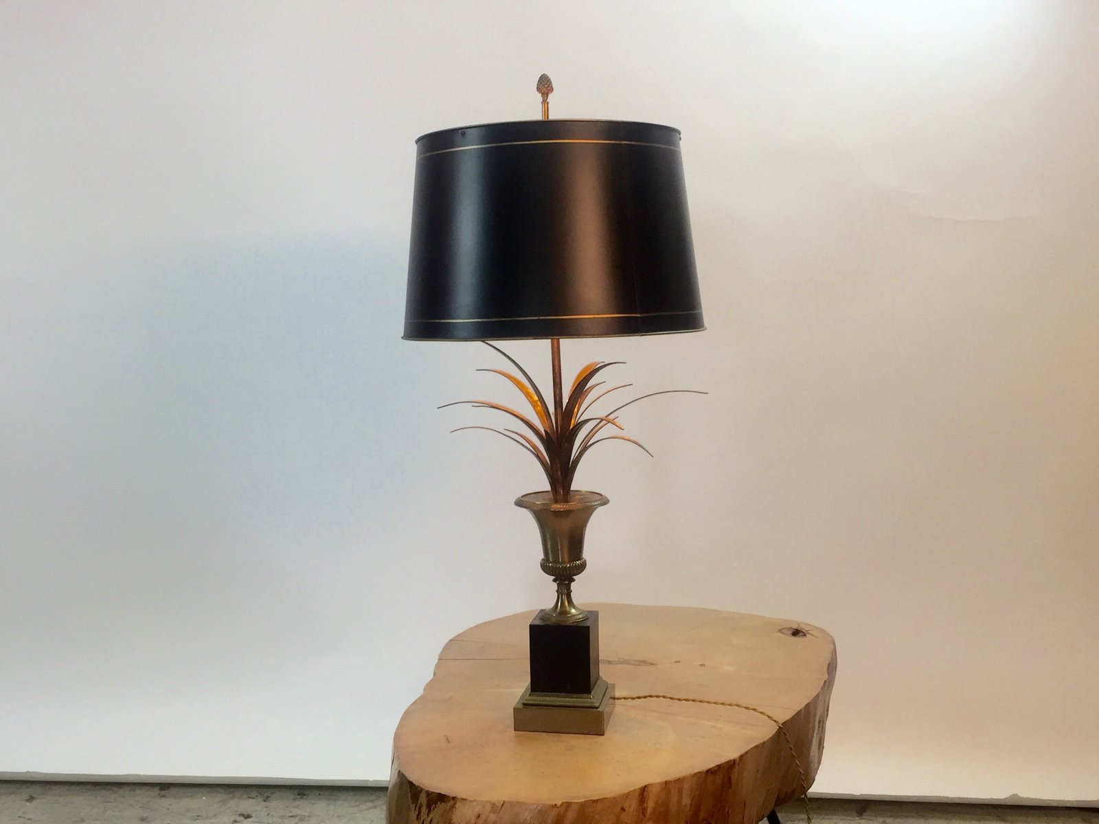 Vintage Palm Tree Table Lamp From Maison Charles