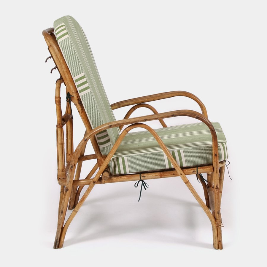 Vintage Bamboo Folding Lounge Chair For Sale At Pamono