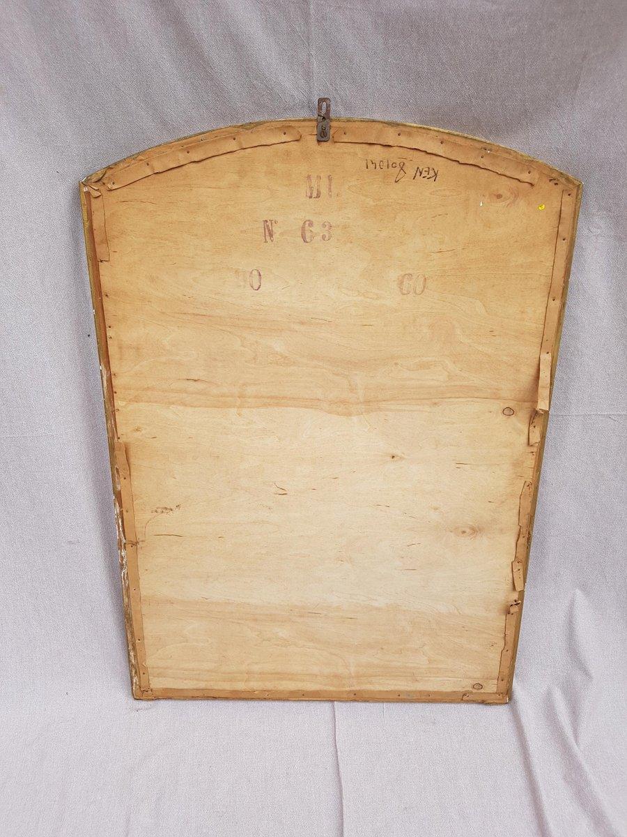 Abgeschrägter Spiegel mit goldenem Rahmen, 1930er bei Pamono kaufen