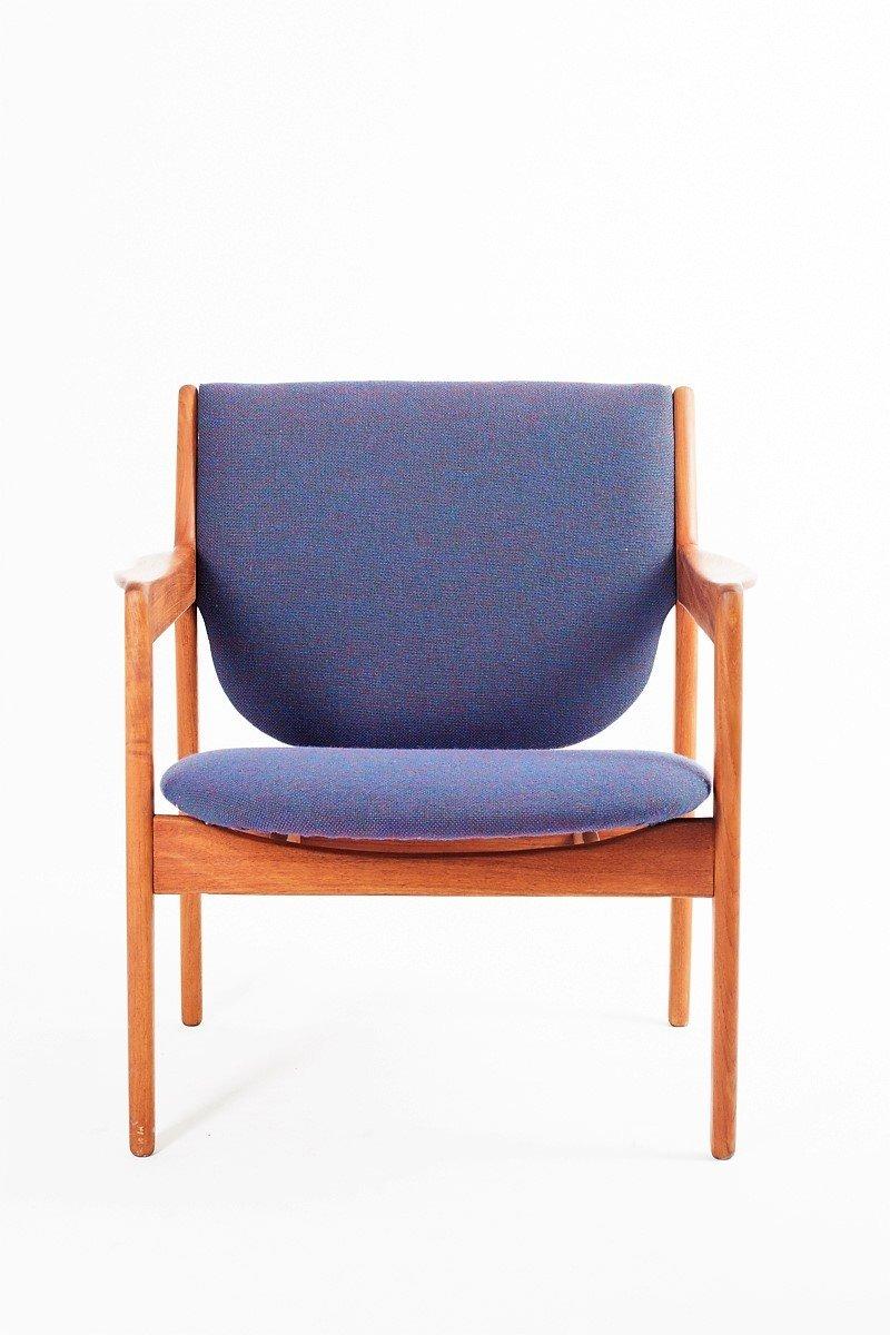Chaise Vintage En Teck Danemark 1960s