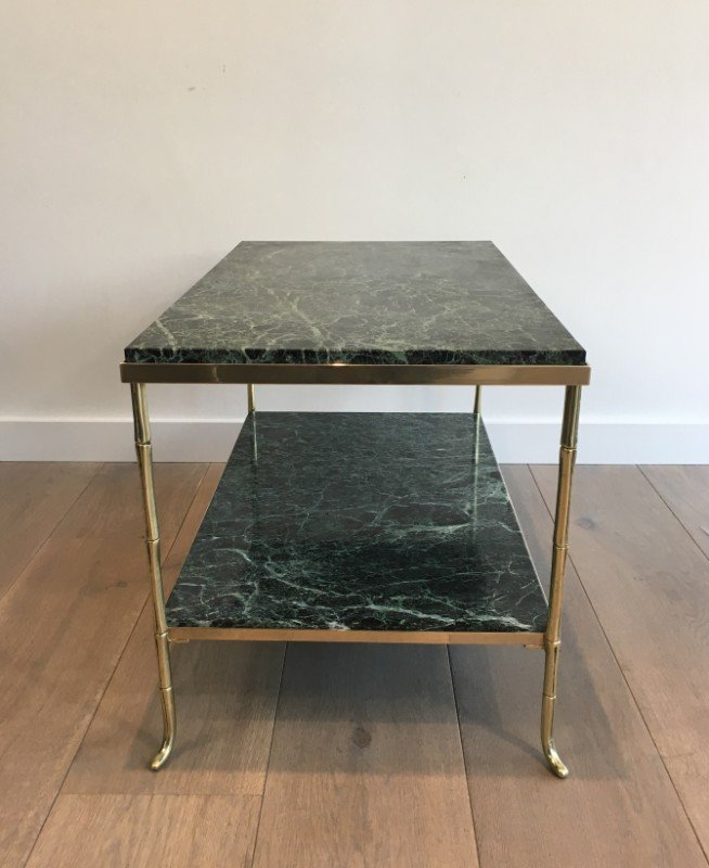 Bronze Coffee Table Australia: Small French Bronze And Brass Faux-Bamboo Coffee Table