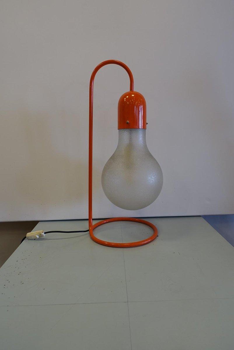 Rote Tischlampe von Stilux Milano, 1970er