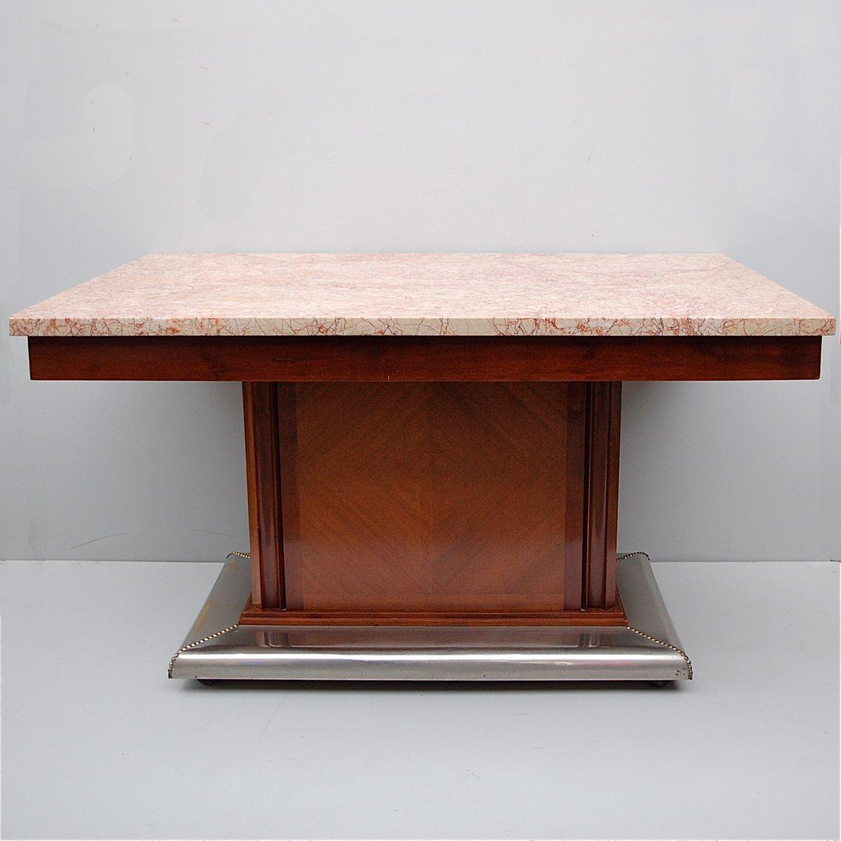 art deco marmor und metall esstisch bei pamono kaufen. Black Bedroom Furniture Sets. Home Design Ideas