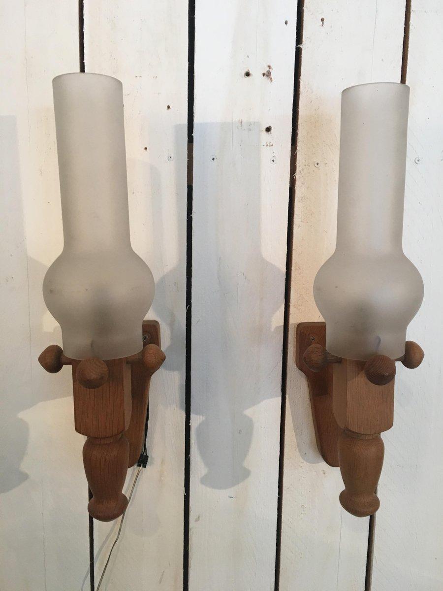 Wandlampen von Guillerme et Chambron für Votre Maison, 1960er, 2er Set