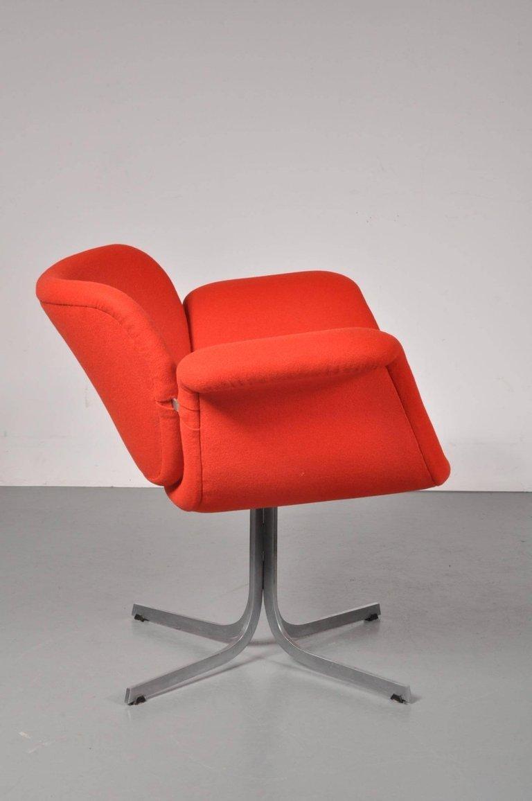 chaise tulipe par pierre paulin pour artipourt pays bas 1950s en vente sur pamono. Black Bedroom Furniture Sets. Home Design Ideas
