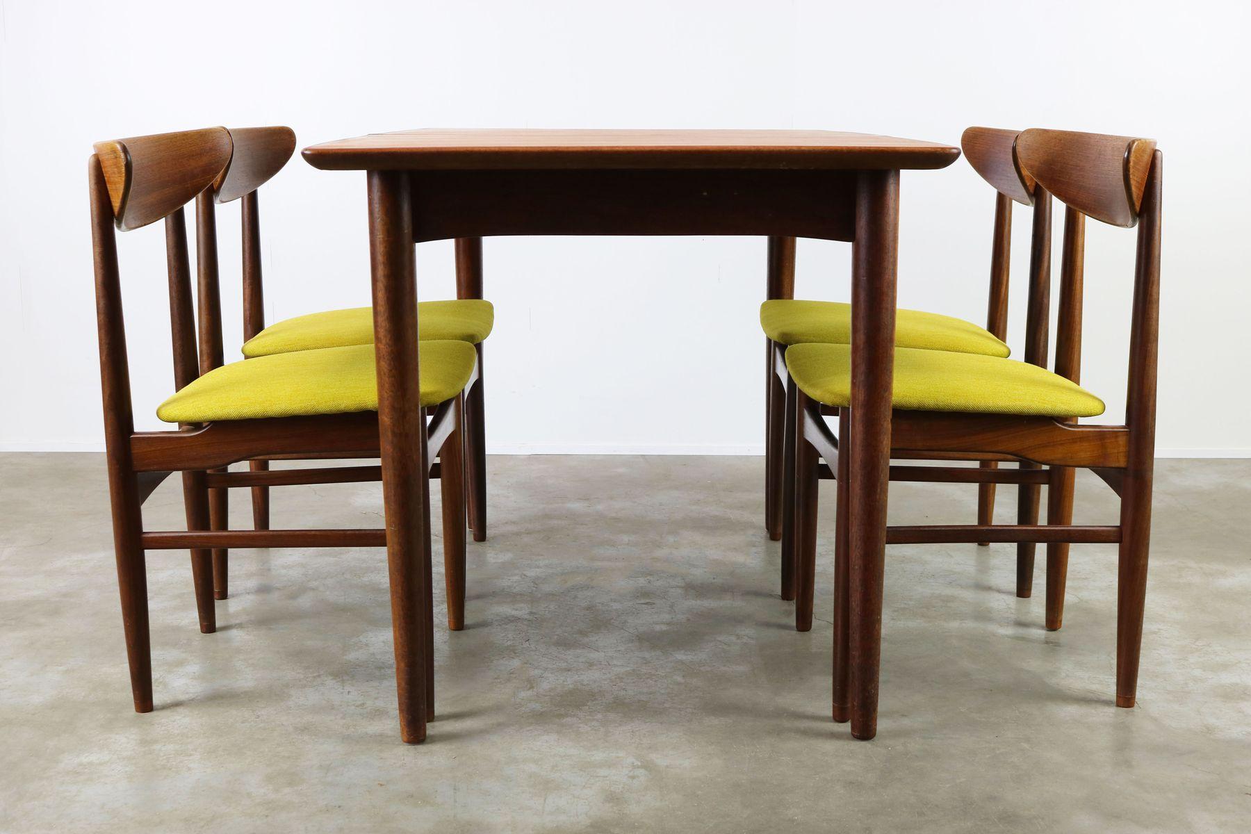 d nische ausziehbarer tisch 4 st hle von dyrlund 1950er. Black Bedroom Furniture Sets. Home Design Ideas