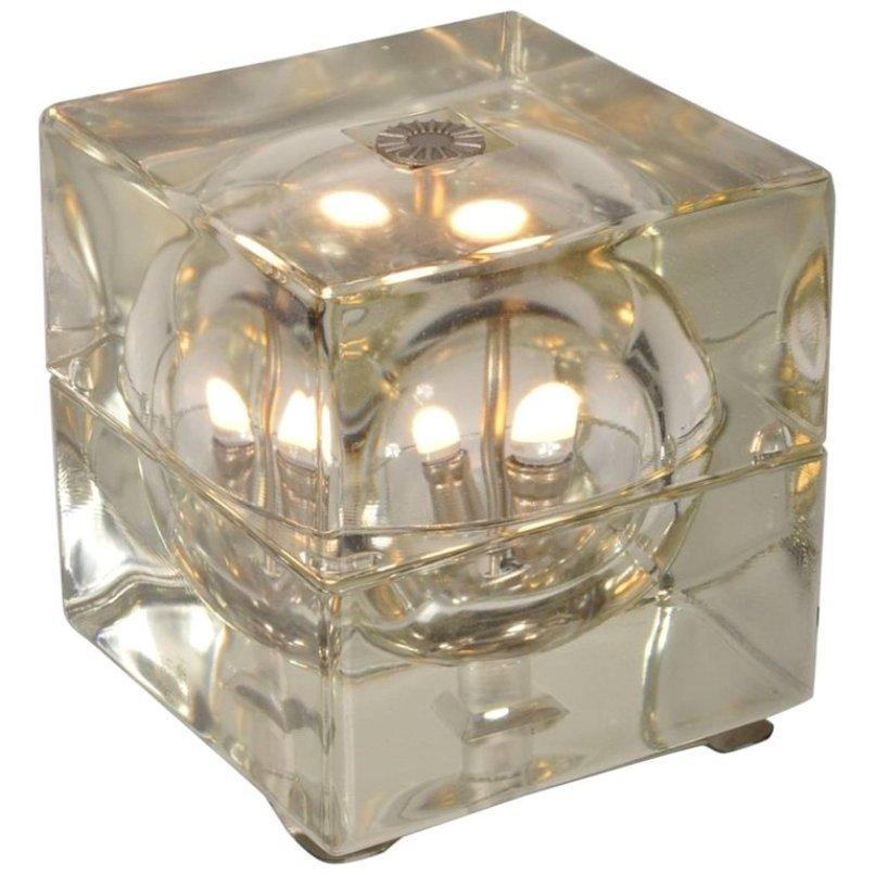 Italienische Cubosfera Tischlampe von Alessandro Mendini für Fidenza V...
