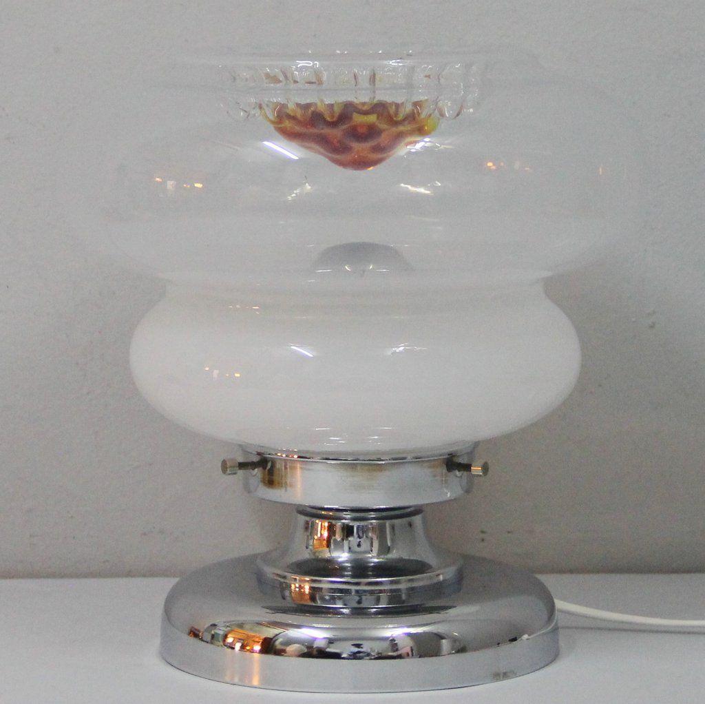 Murano Glas Tischlampe, 1960er
