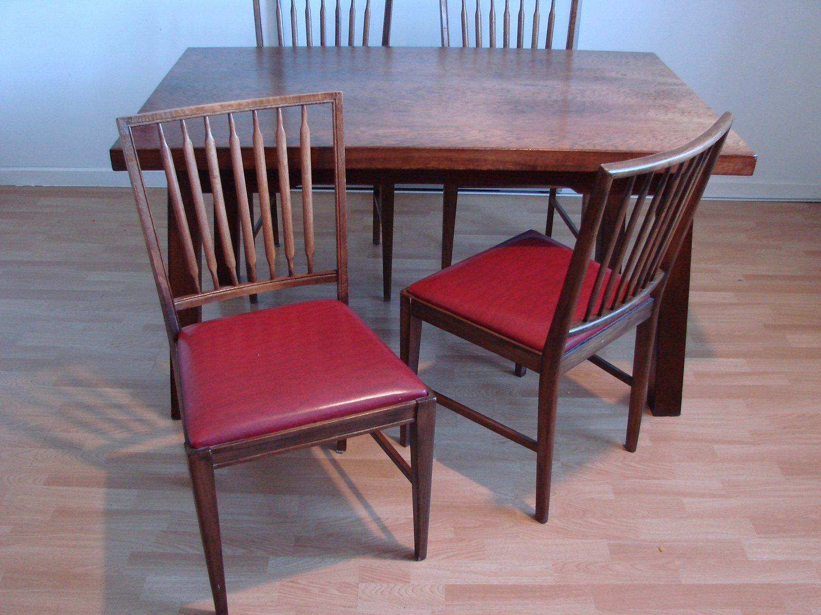 tisch 4 st hle 1960er bei pamono kaufen. Black Bedroom Furniture Sets. Home Design Ideas
