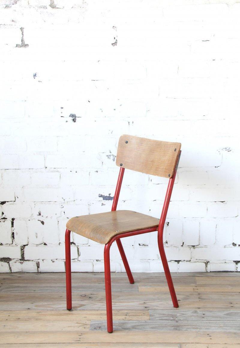 Roter mid century klassenzimmer stuhl bei pamono kaufen - Mid century stuhl ...