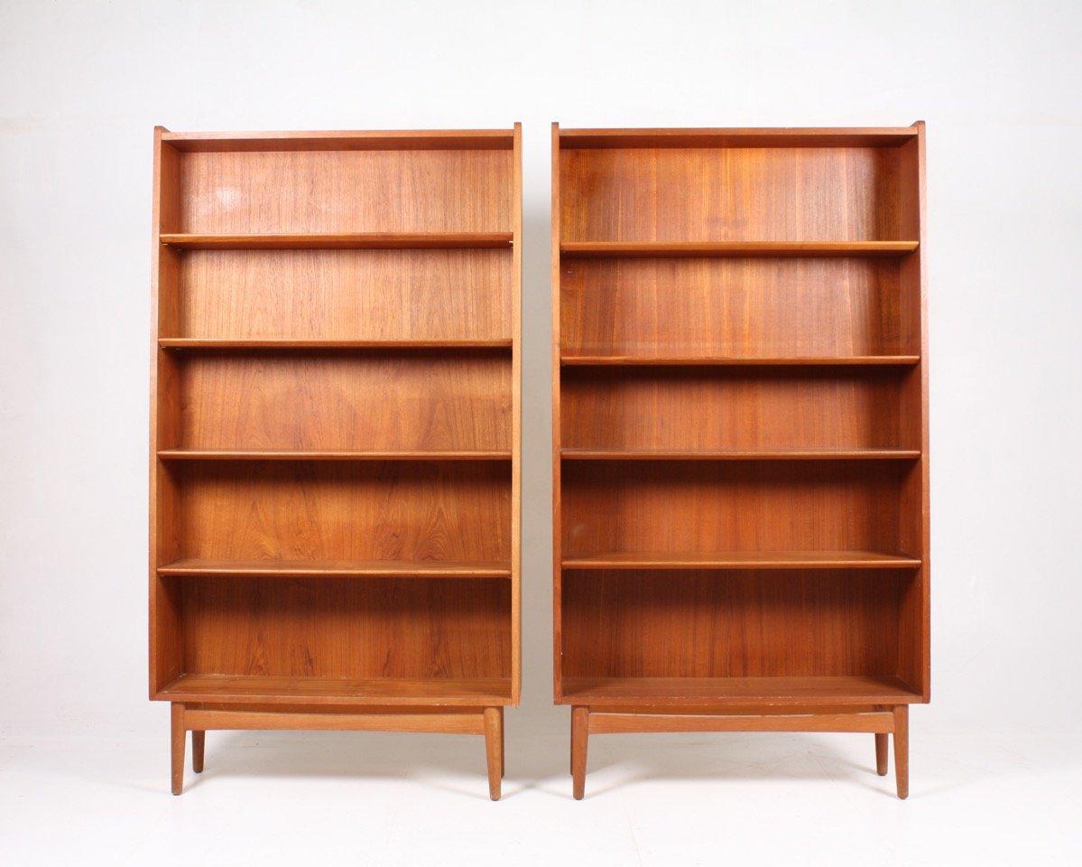 danish teak bookshelves from nex 1960s set of 2 - Teak Bookshelves
