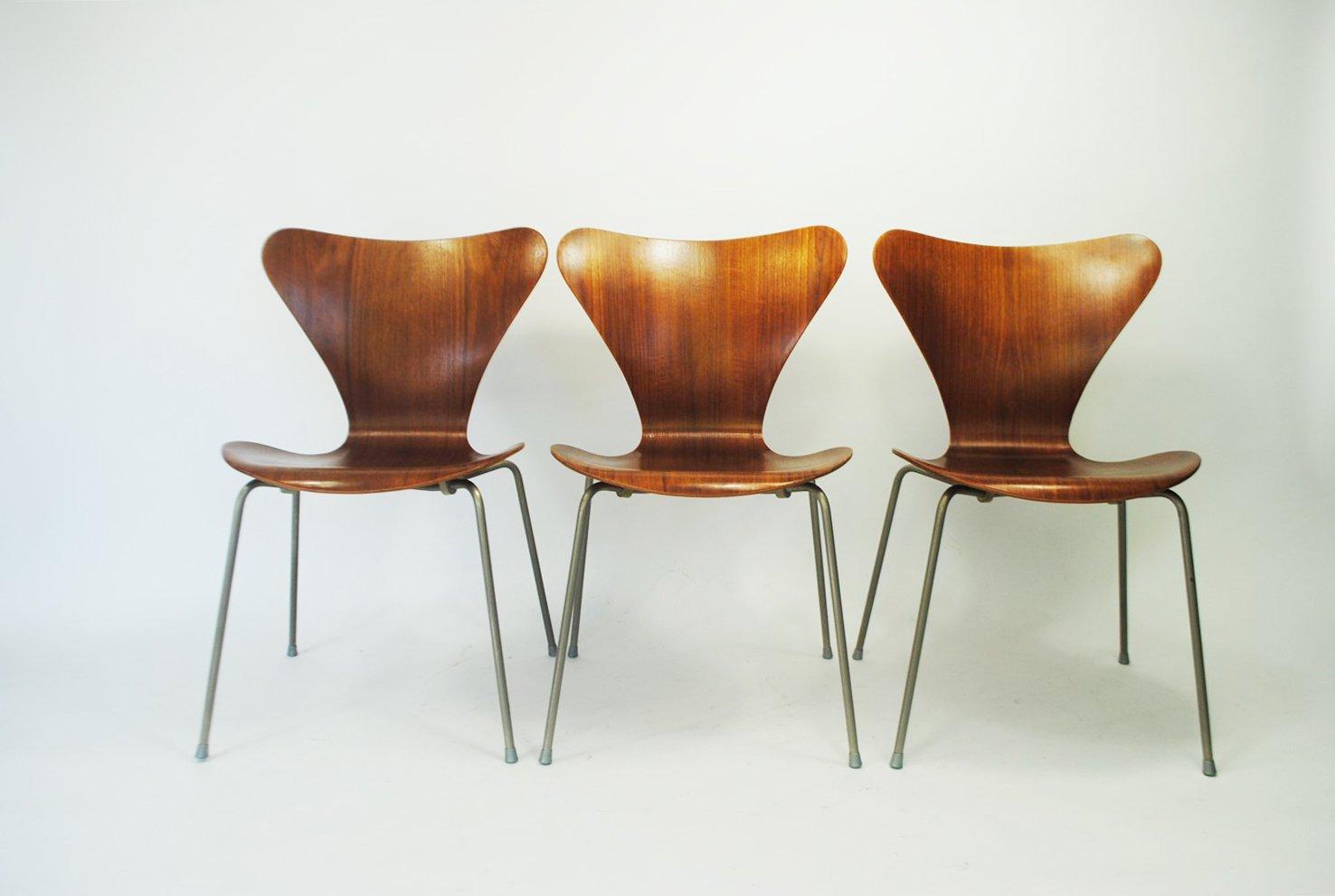 Teak 7-Series Chair by Arne Jacobsen for Fritz Hansen, 1960s for ...