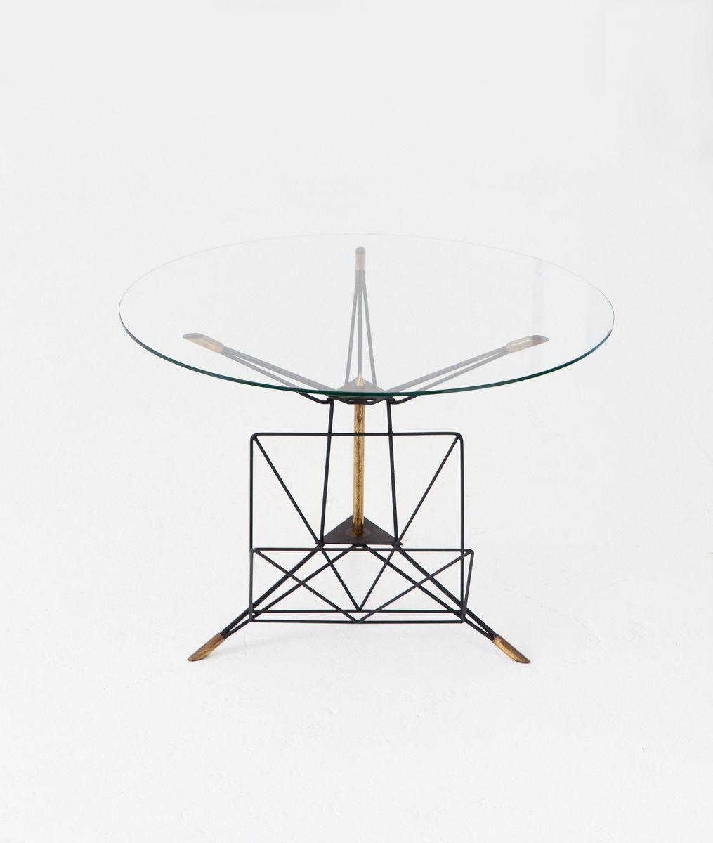 Runder italienischer Couchtisch im modernen Stil mit Rahmen aus Eisen ...