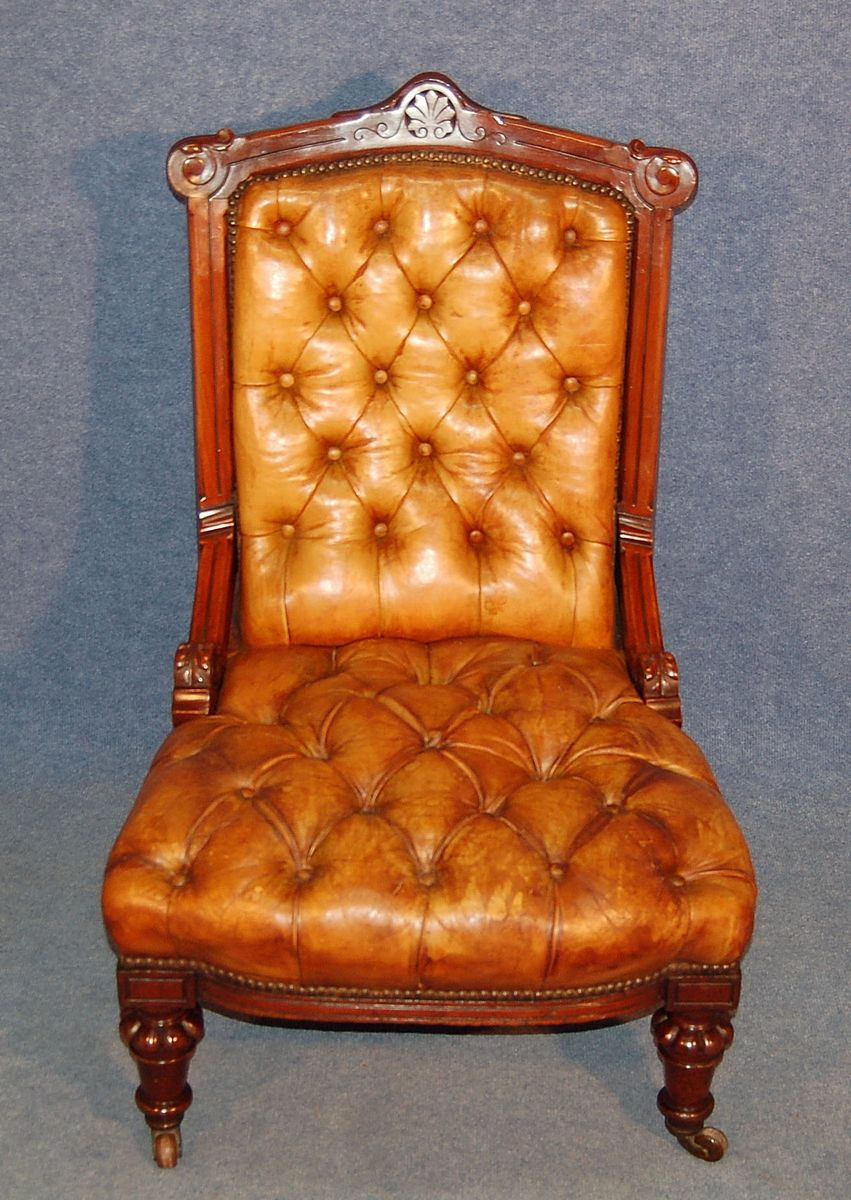 Antique Leather Lounge Chair - Antique Leather Lounge Chair For Sale At Pamono