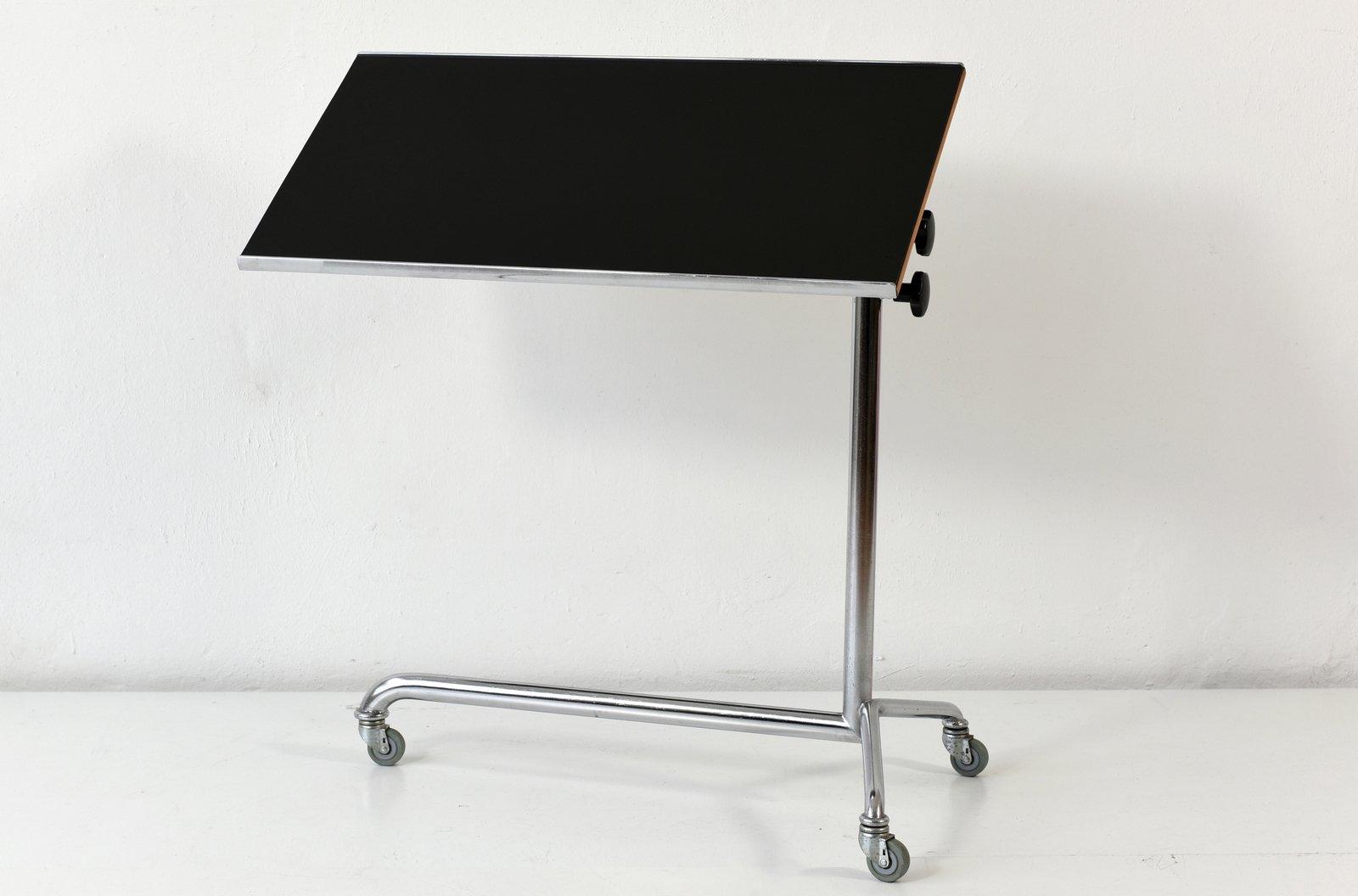 Swiss adjustable side table 1960s