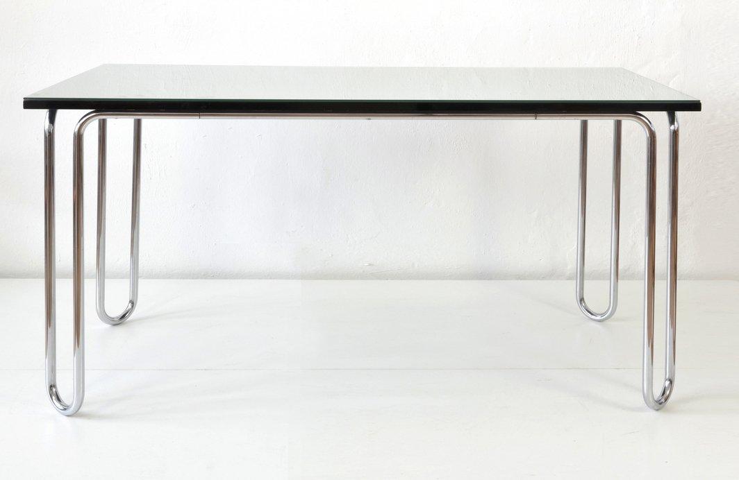 Tisch mit Glasplatte von Mauser Werke Waldeck, 1955