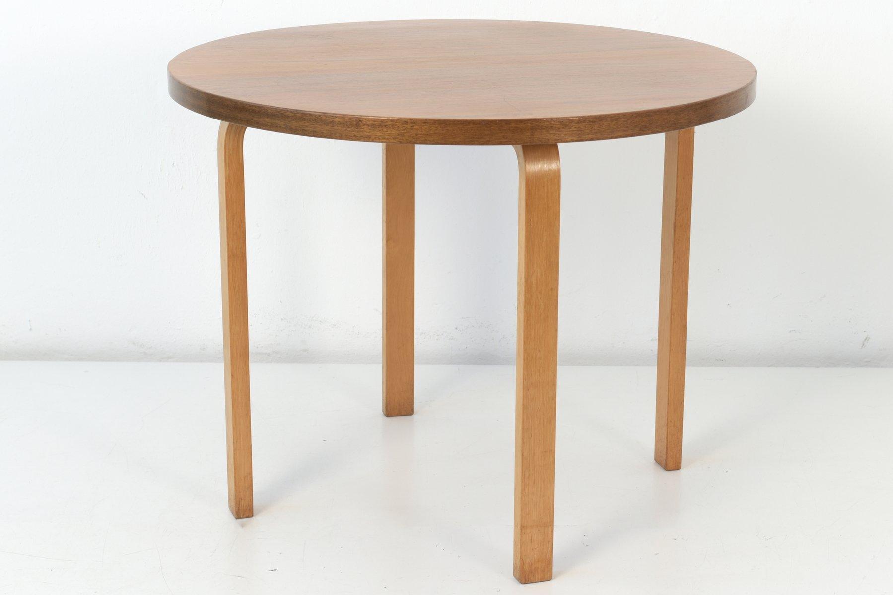 Kleiner runder Vintage Esstisch von Alvar Aalto für Artek