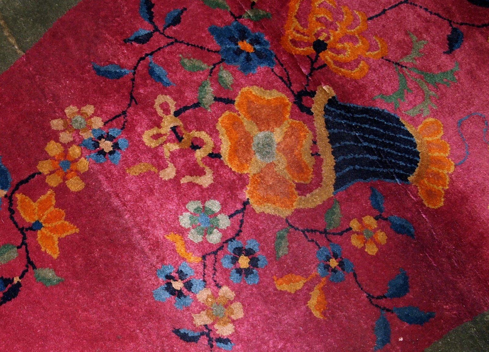 Chinesischer handgearbeiteter art deco teppich 1920er bei - Art deco teppich ...