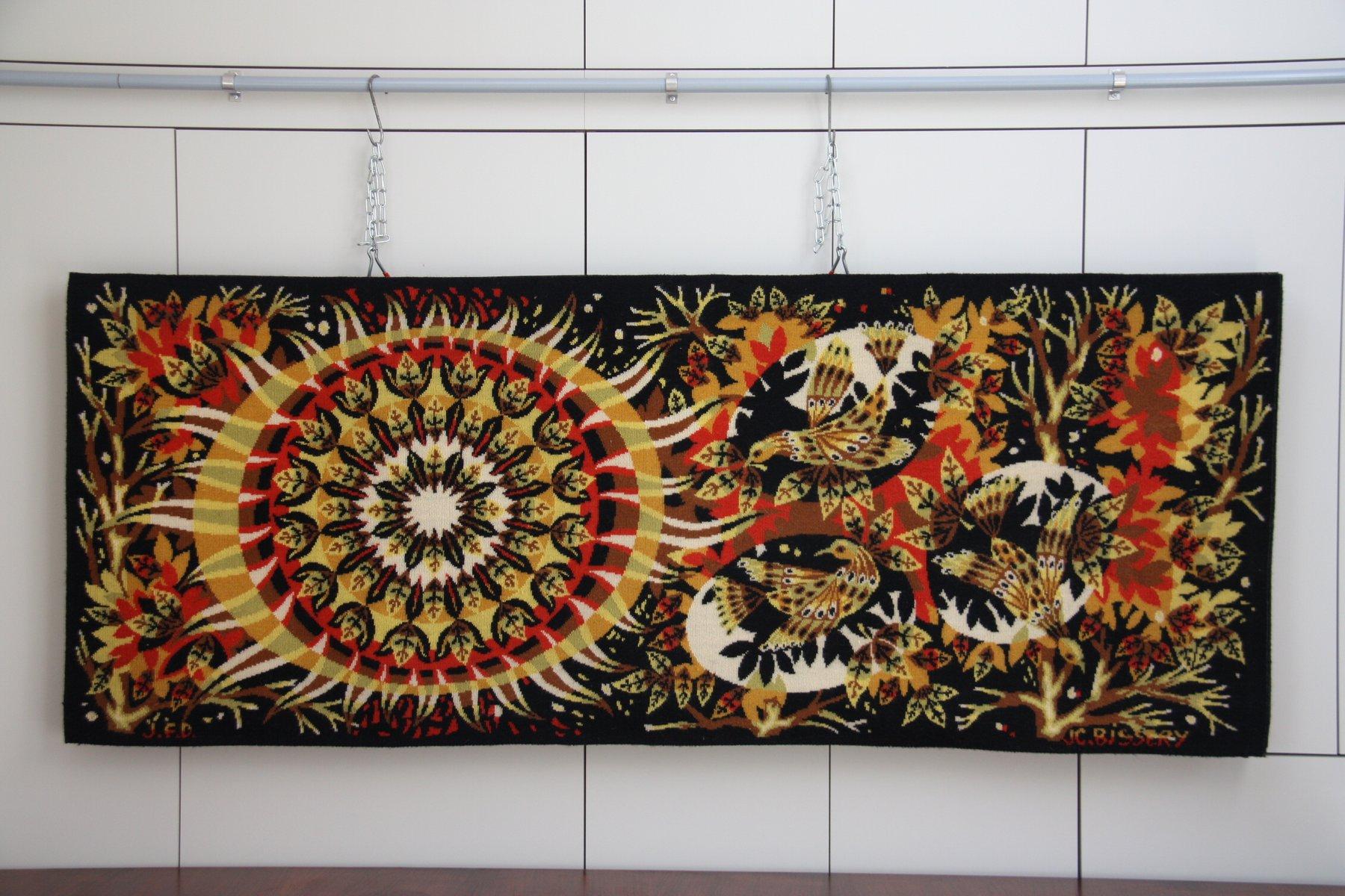 Vintage Aurore Wandteppich aus Wolle von J.C. Bissery für Aubusson, 19... | Heimtextilien > Teppiche > Wandteppich | Mehrfarbig | Wolle