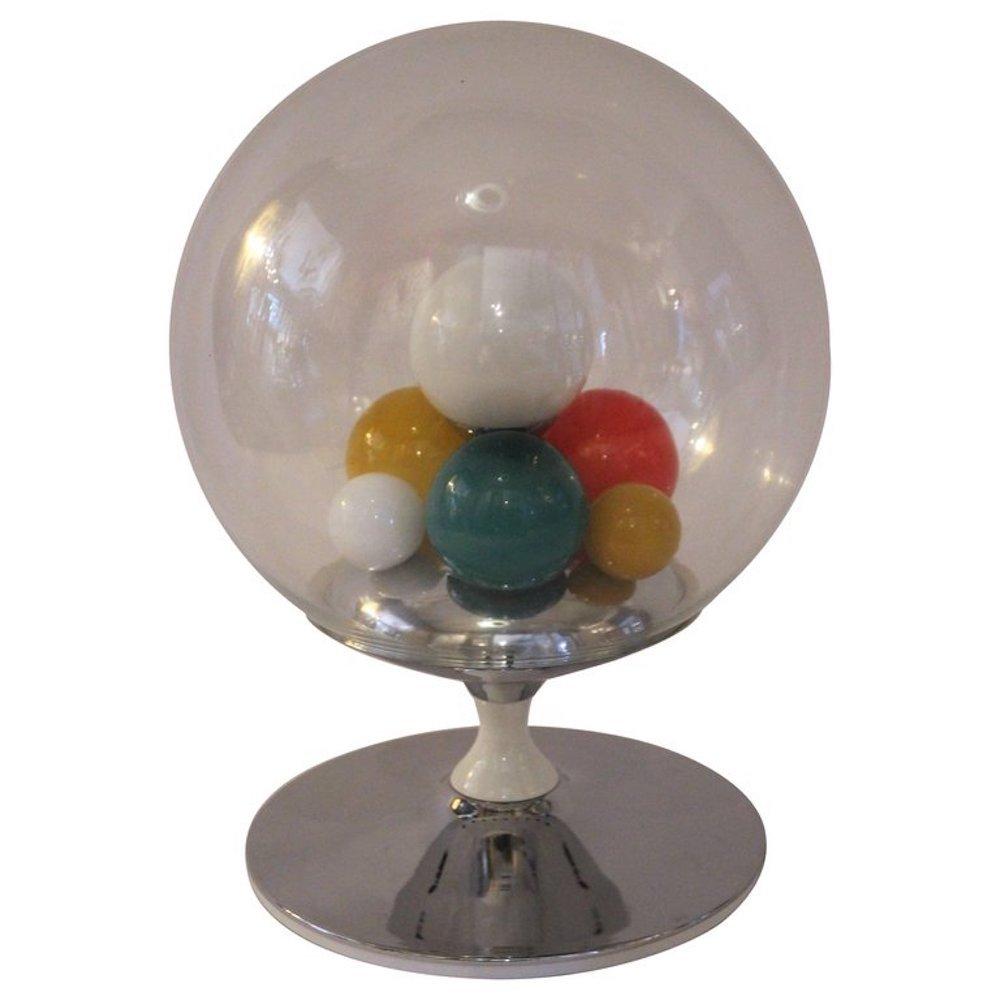 Tischlampe aus Metall & Glas von Angelo Brotto für Esperia, 1965