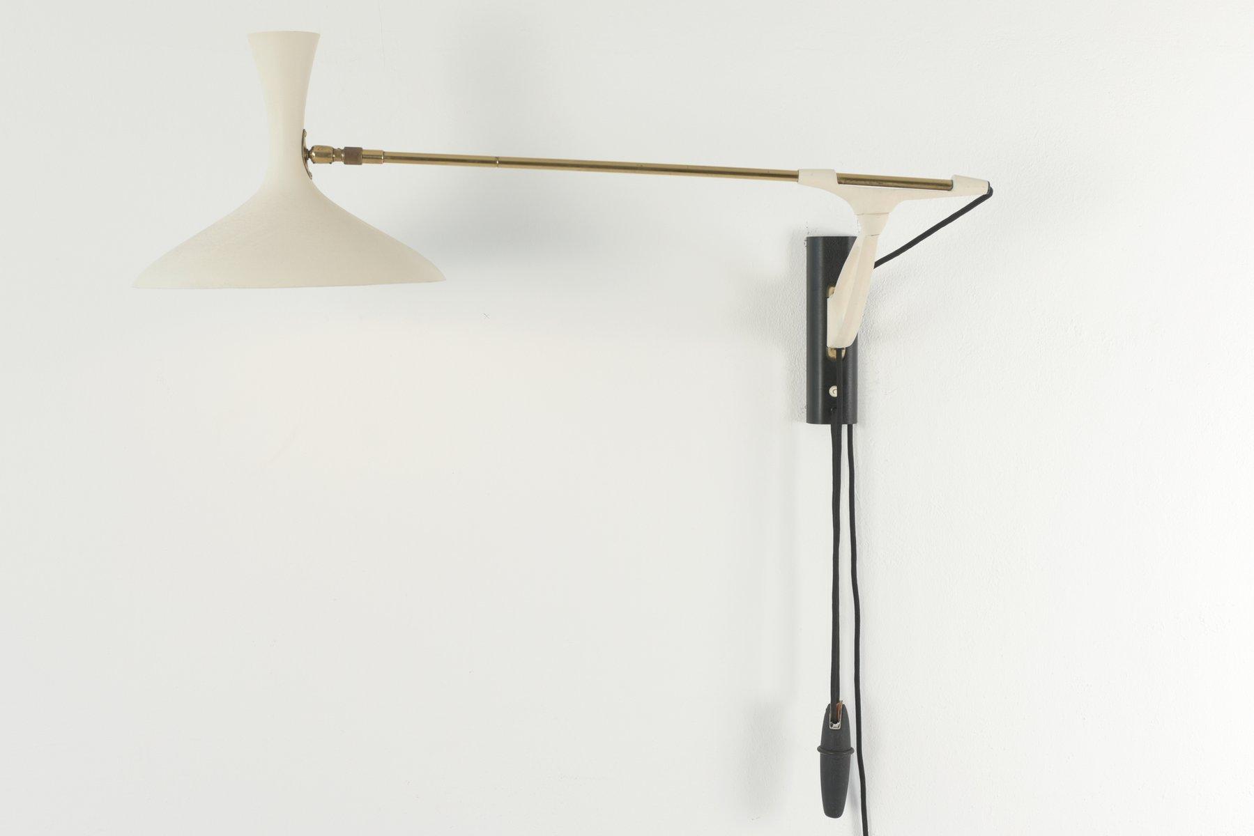 Verstellbare deutsche Wandlampe von Cosack Royal, 1950er