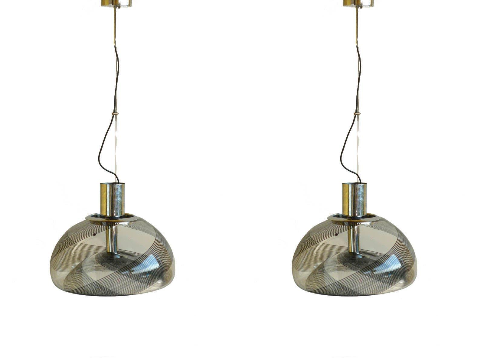 Vintage Italian Murano Glass Pendant Lamps from La Murrina, Set of 2 ...