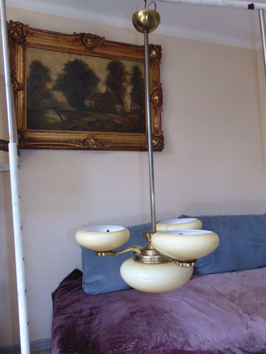 lustre art deco en laiton en vente sur pamono. Black Bedroom Furniture Sets. Home Design Ideas