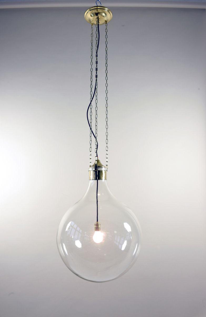 Glasballon Hängelampe, 1940er