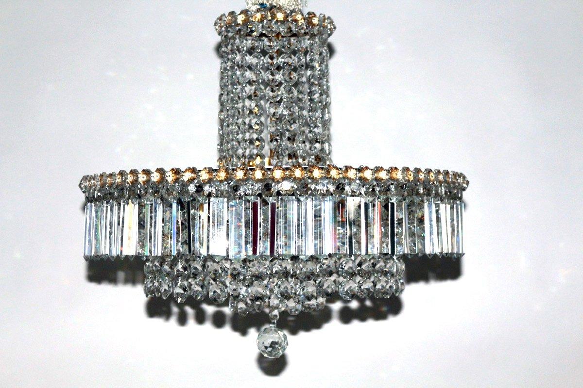 Deckenlampe mit Swarovski Kristallglas, 1950er
