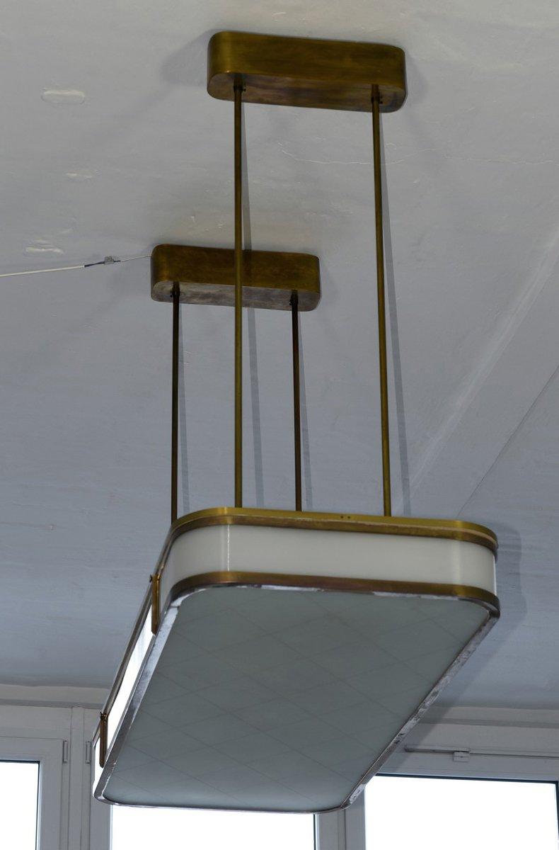 Monumental Deckenlampe von Hans Poelzig für IG Farben, 1940er