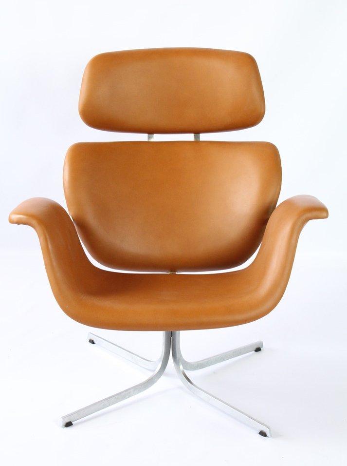 grand fauteuil mod le 545 tulip vintage par pierre paulin pour artifort en vente sur pamono. Black Bedroom Furniture Sets. Home Design Ideas