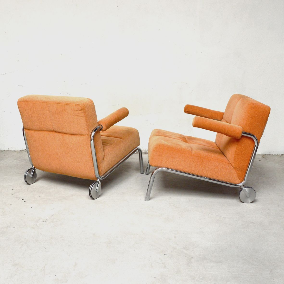 armchairs from br hl 1980s set of 2 for sale at pamono. Black Bedroom Furniture Sets. Home Design Ideas