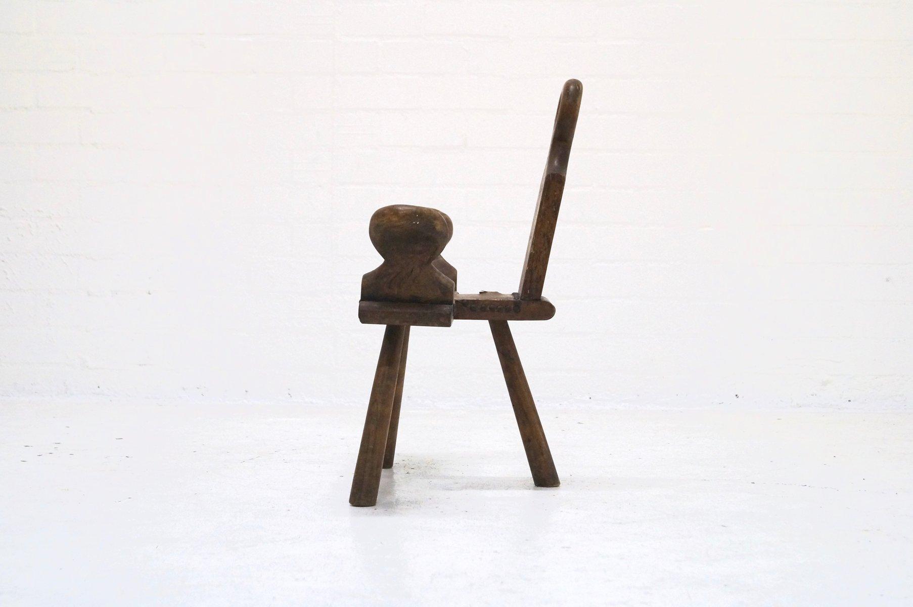 chaise d 39 appoint ou tabouret mid century brutaliste. Black Bedroom Furniture Sets. Home Design Ideas
