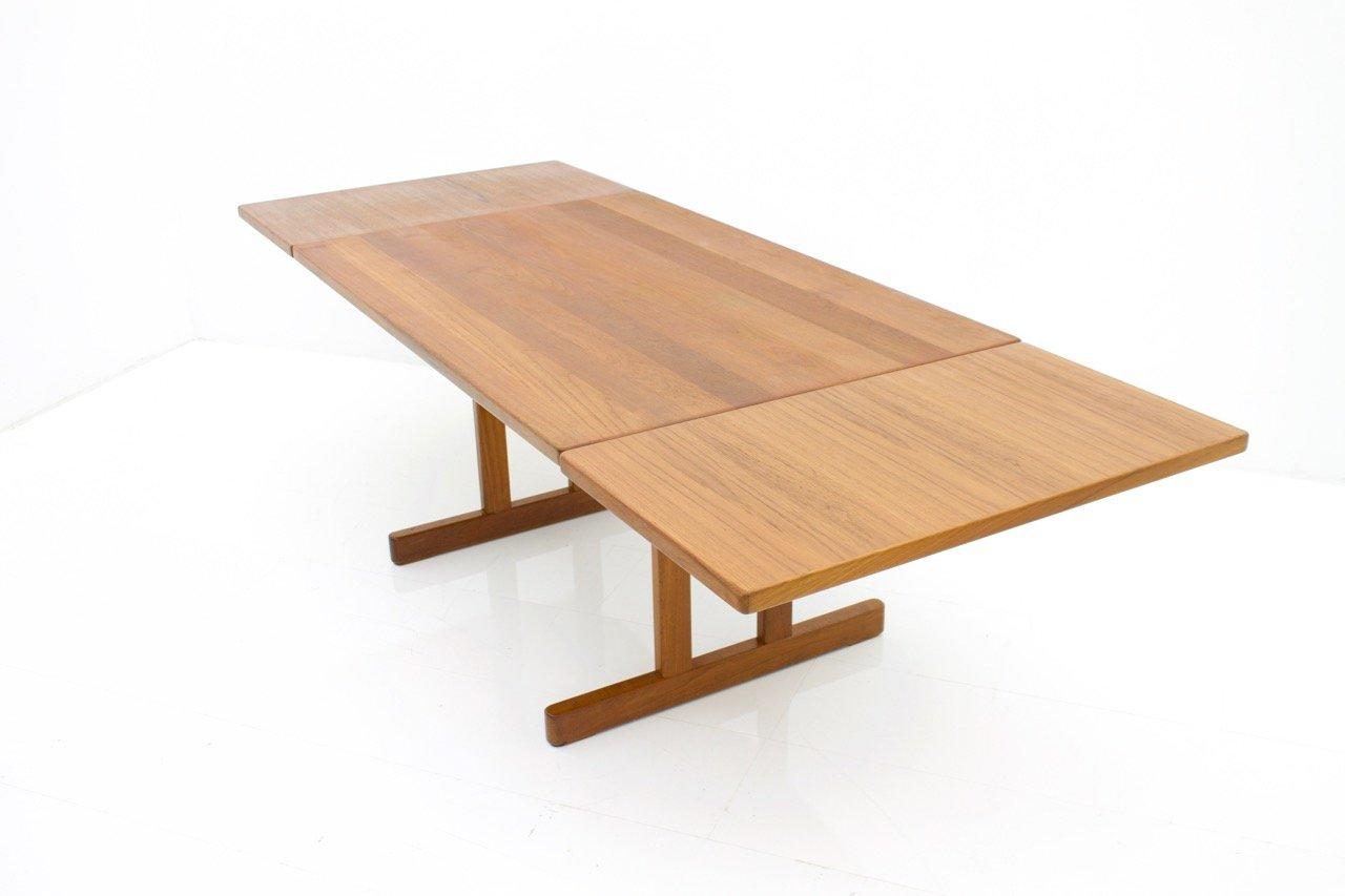 table de salle manger en teck par kurt stervig pour kp m bler 1960s en vente sur pamono. Black Bedroom Furniture Sets. Home Design Ideas