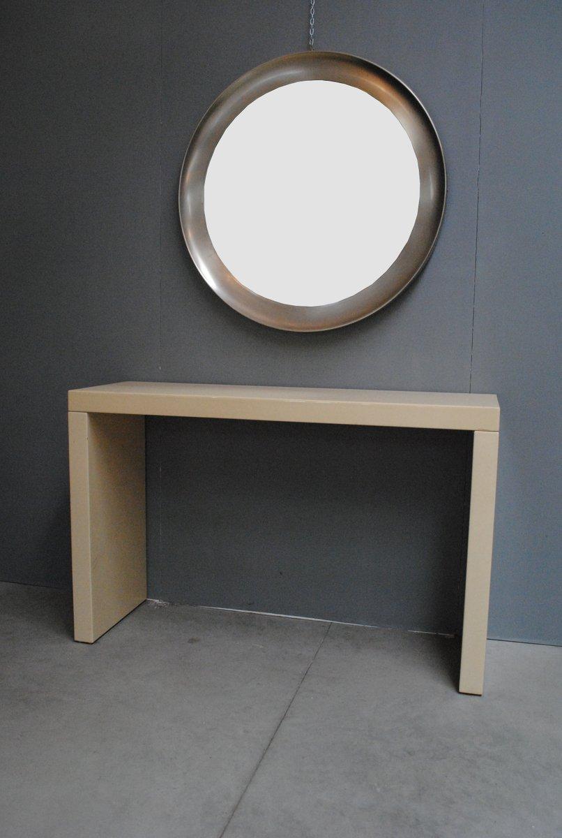 runder spiegel mit stahlrahmen 1970er bei pamono kaufen. Black Bedroom Furniture Sets. Home Design Ideas