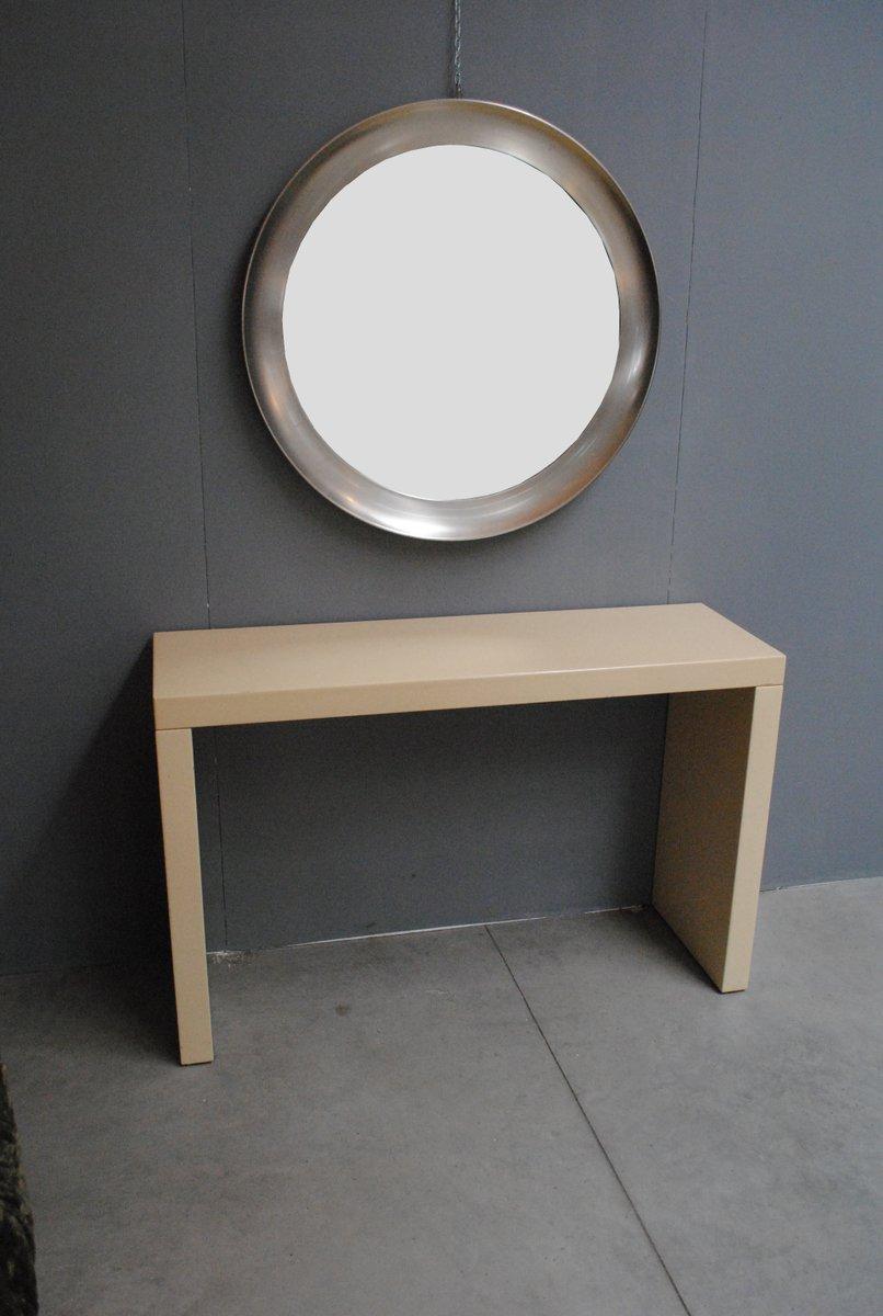 Runder spiegel mit stahlrahmen 1970er bei pamono kaufen - Konsolentisch mit spiegel ...