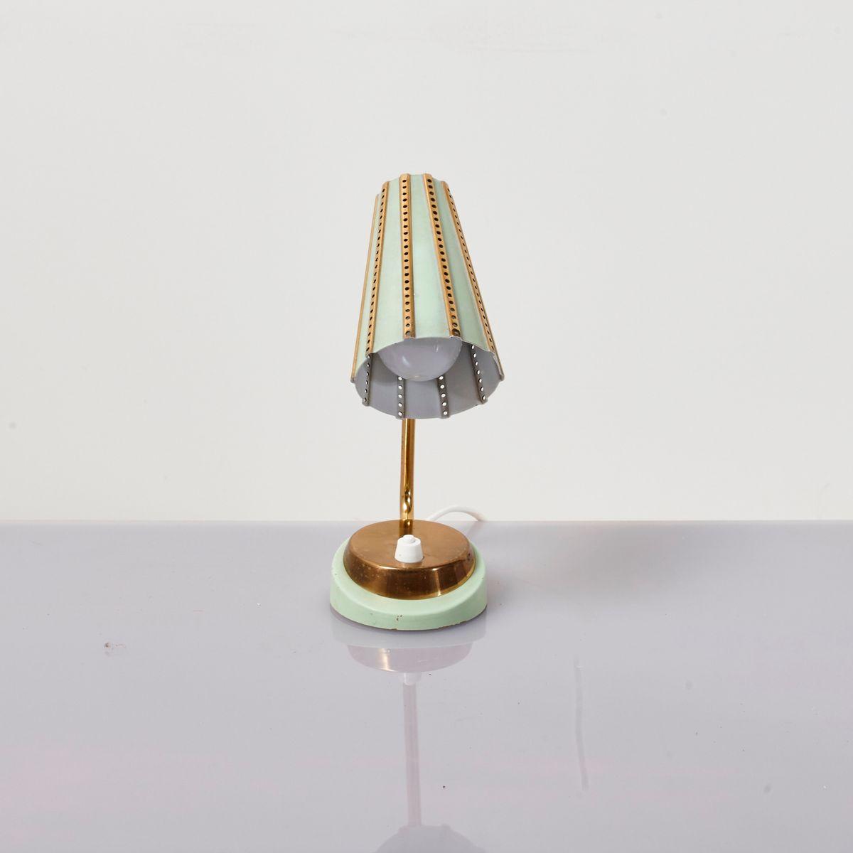 Kleine Messing Tischlampe, 1970er