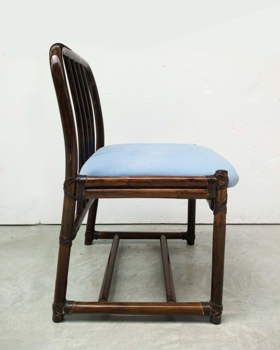st hle von mcguire 1970er 6er set bei pamono kaufen. Black Bedroom Furniture Sets. Home Design Ideas