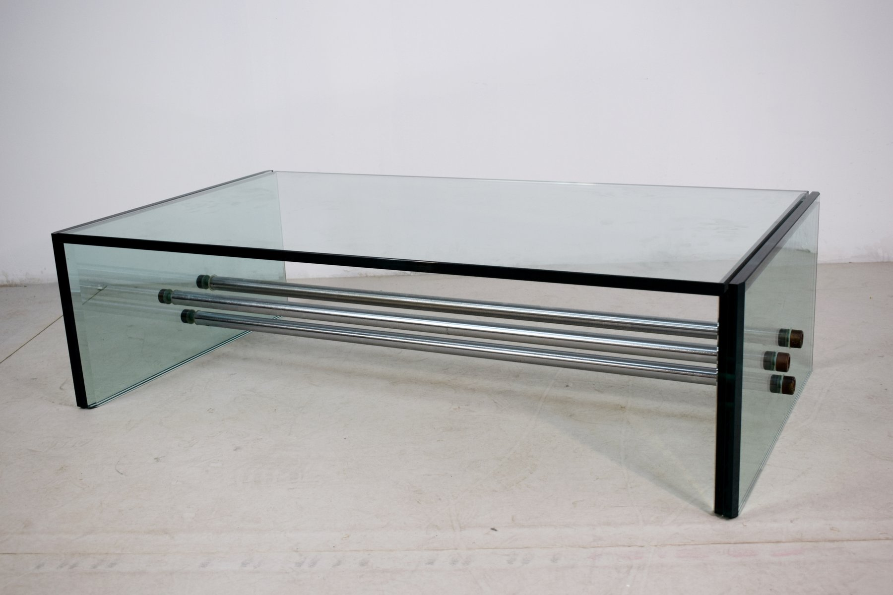 Rectangular Glass Coffee Table 1970s For Sale At Pamono