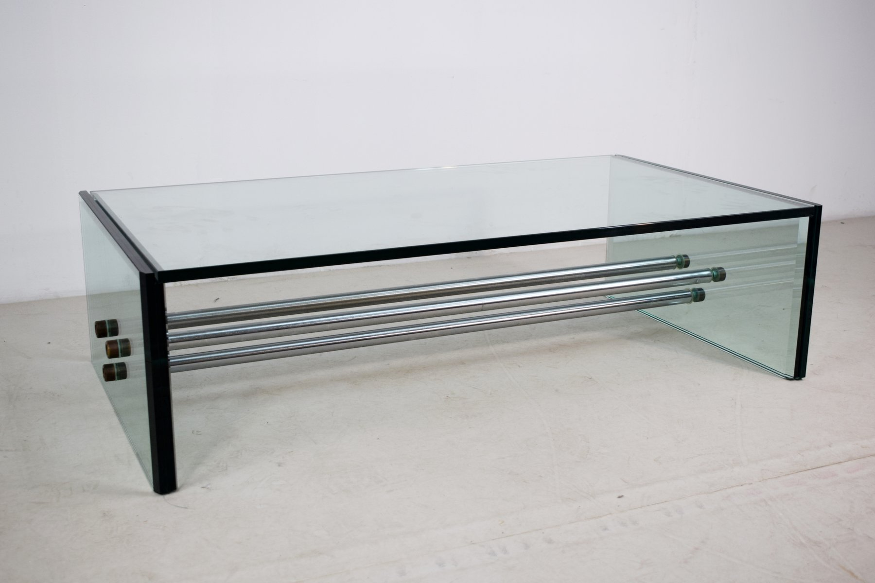 table basse rectangulaire en verre 1970s en vente sur pamono. Black Bedroom Furniture Sets. Home Design Ideas