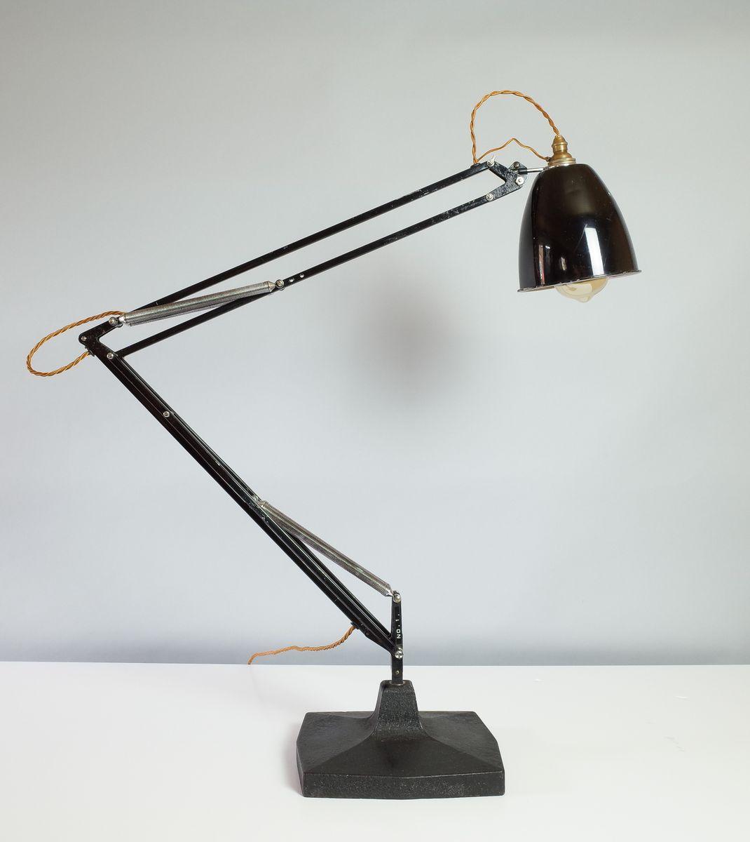 Schwarze 1209 Bogenlampe von George Carwardine für Herbert Terry & Son...