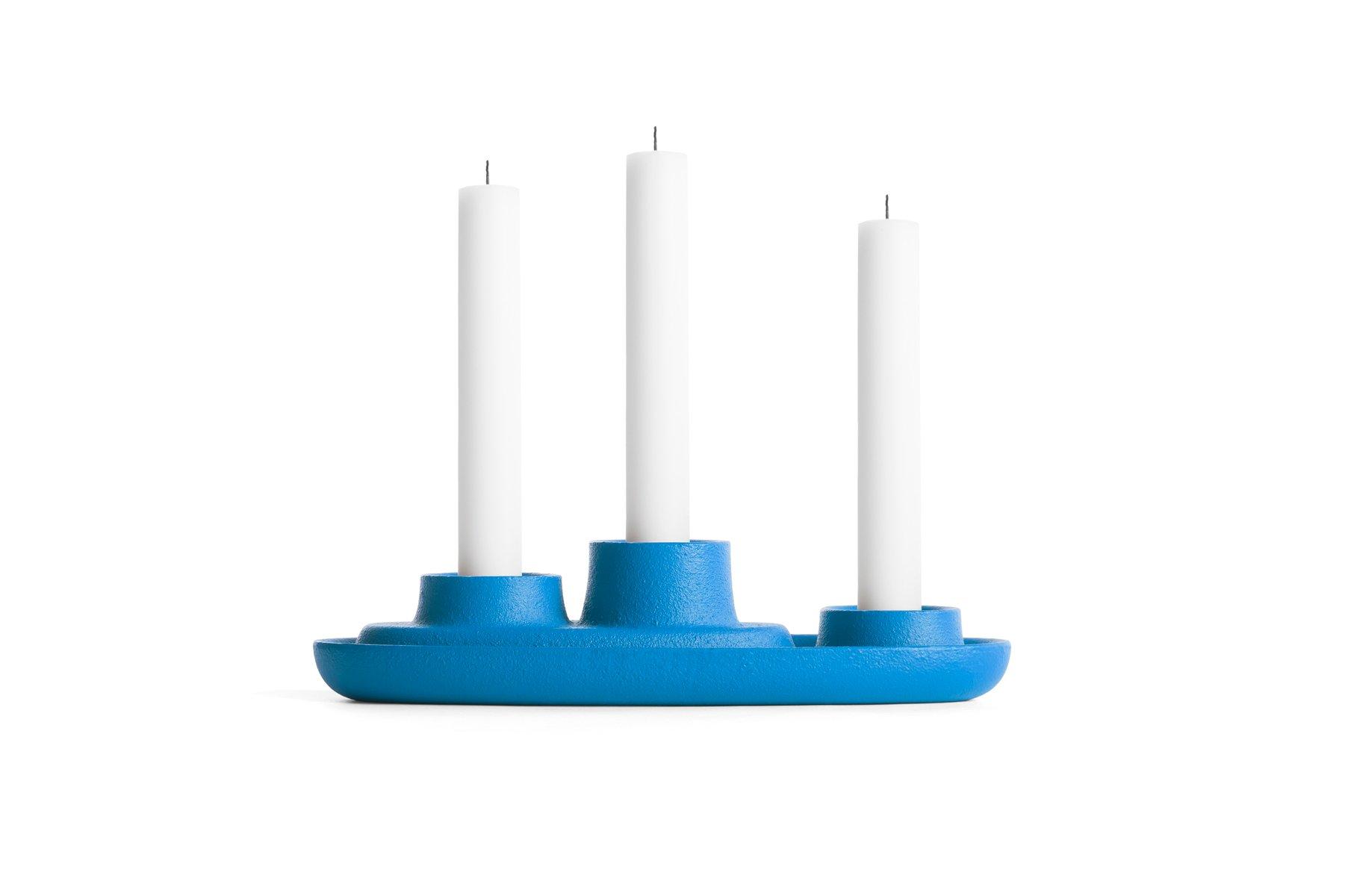 aye aye strahlend blauer kerzenst nder f r 3 kerzen von f r emko bei pamono kaufen. Black Bedroom Furniture Sets. Home Design Ideas