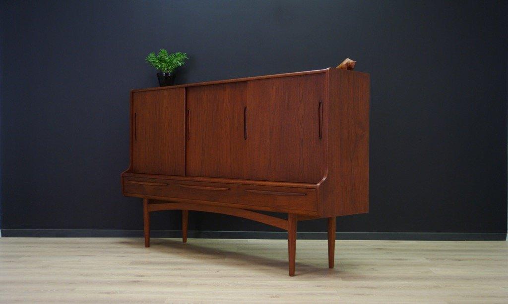 d nisches vintage teak highboard bei pamono kaufen. Black Bedroom Furniture Sets. Home Design Ideas